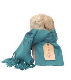 foulard-etamine-turquoise