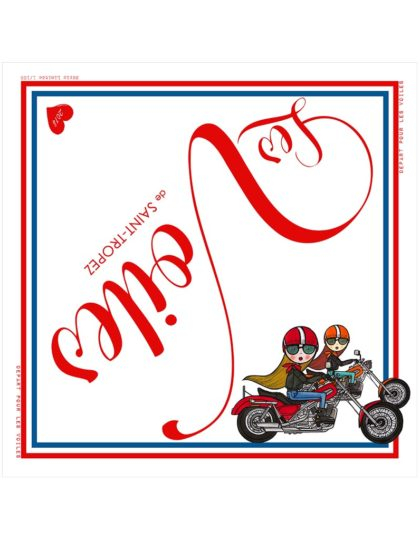foulard coeur moto