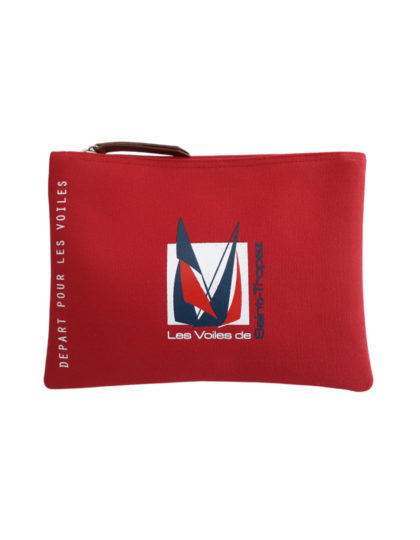 pochette travel rouge logo officiel A